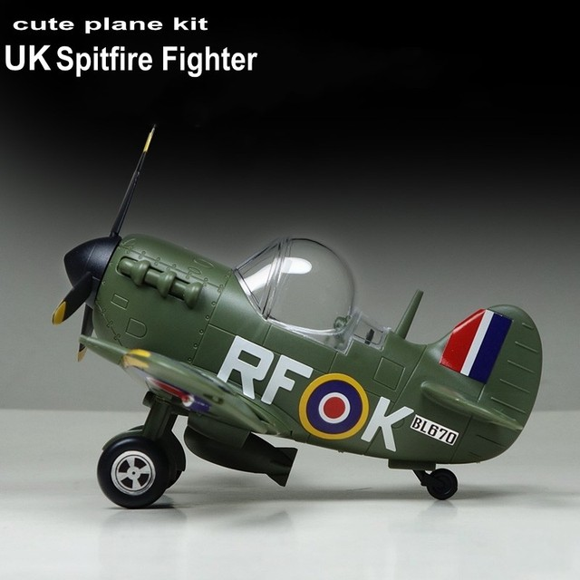 Model Building Kits Montage Vliegtuig Fighter Leuke Vliegtuig Model UK Spitfire Vechter Model DIY 105