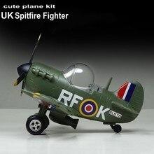 Zestaw klocków montaż samolot myśliwiec śliczny Model samolotu UK Spitfire Fighter Model DIY 105