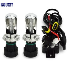 цена на bi xenon H4 bi-xenon bulb 55w H4-3 HID BIXENON REPLACEMENT Headlight Hi/Lo Bulbs 4300K 6000K 8000K with Relay Harnes