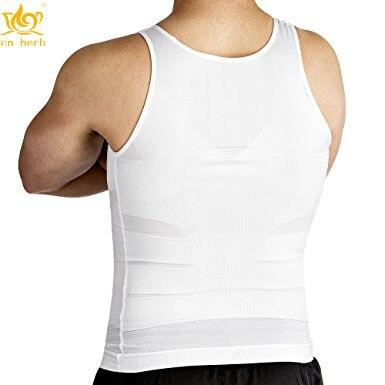 Cn Herb Slimming Compressão dos homens Camisa, slim Fit Camisola Insta Magro Shapewear Frete Grátis