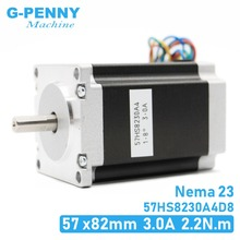 NEMA 23 CNC מנוע צעד 57x82mm 3A 2.2N.m D = 8mm 6.35mm 315Oz in Nema23 CNC נתב חריטת כרסום מכונת 3D מדפסת