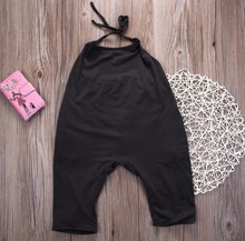 New Fashion Jumpsuit For Little Baby Girls with Side Pockets
