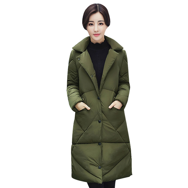 2017 new winter Korean fashion Cotton-padded clothes women Long Slim plus thick Warm jacket coat plus size M L XL XXL parkas 2017 new winter jacket women long slim warm female fashion cotton coat outerwear thick warm winter parkas plus size l 3xl 4l60