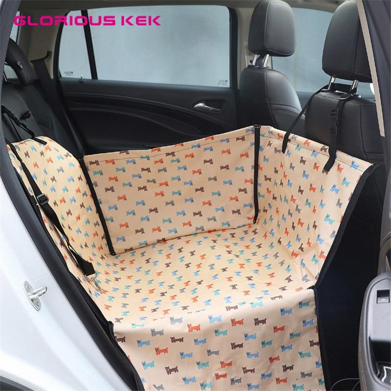 GLORIOUS KEK Dog Car Seat Covers Strong Waterproof Pet Hammock For Small Medium Dogs Mat Protector Dropshipping