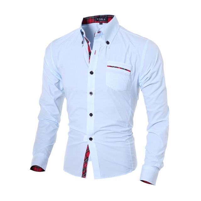 2017 Nuevo Otoño de Los Hombres Camisas Para Hombre de