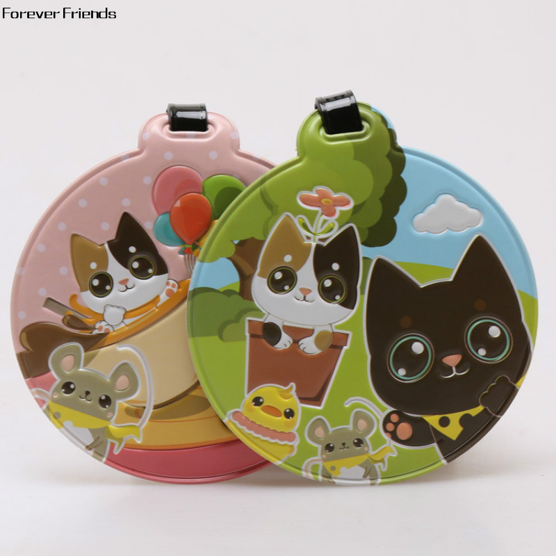 ForeverFriendsLovely kitten round cartoon luggage tags, identification tags, luggage label card