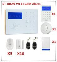Цена продвижение Wi-Fi GSM сигнализация Системы Сенсорный экран сигнализации Системы с APP и webie Управление сигнализации дома Системы