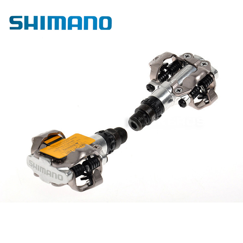 SHIMANO PD-M520 M520 Chrome-moly & Aluminum Compact Road MTB Bike Bicycle Cycling Self-Locking Pedal Clipless SPD SM-SH51 Cleats shimano pd m520 mtb mountain bike clipless pedals with spd cleats sm pd22 black