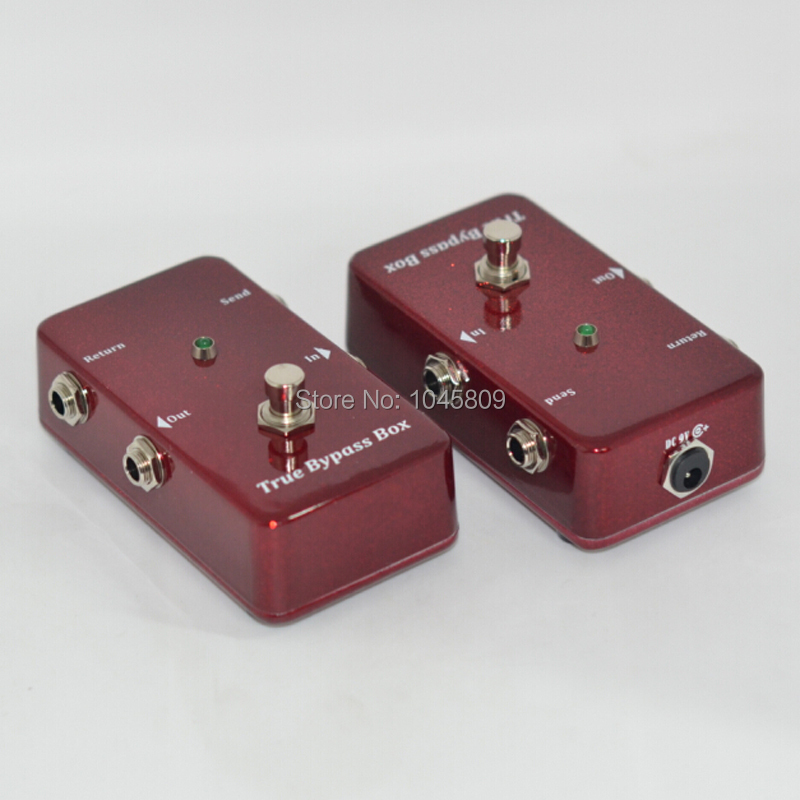 Loops / Guitar Effect Pedal Looper Switcher true bypass guitar pedal Red Loop switch hand made 2 loop true bypass black looper guitar switch a b pedal box for guitar accessories