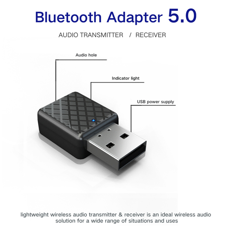 Aux Audio <font><b>Bluetooth</b></font> <font><b>Receiver</b></font> Stereo Aptx 3.5mm Jack Wireless Adapter for Headphone Speaker Car Music Handsfree with Microphone image