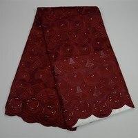 Модная популярная швейцарская кружевная ткань из вуали, швейцарская кружевная ткань из чистого хлопка, швейцарская кружевная ткань