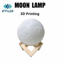 Аккумуляторная 3d лампа в виде Луны ночник светильник креативсветильник