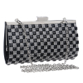 Rhinestones women evening bags metal day clutches wedding handbags silver/gold/black small purse bags