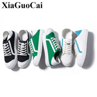 Autumn Men Canvas Shoes Fashion Artistic Youth Retro Classic Shell Toe White Shoes Casual Lace Up