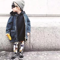 Autumn Winter Kids Denim Coats Boys Girls Outerwear Baby Jeans Jackets Children's Clothing O