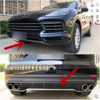 JIOYNG Stainless steel 2PCS Front + Rear Bumper Protector Guard Skid Plate For 18 19 Porsche Cayenne 2018 2019 by EMS