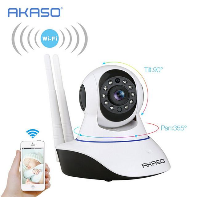 Inalámbrica Wi-Fi IR Cut Cámara IP HD 720 P CMOS IP de Seguridad CCTV PT Cámara de Alarma, baby monitor De wifi y syste GSM sms de alarma