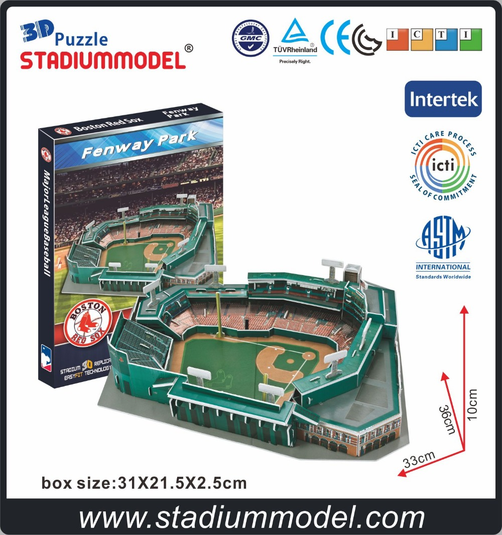 MLB Boston Red Sox Fenway Parc américain ballon de football rugby baseball 3D Puzzle Stade
