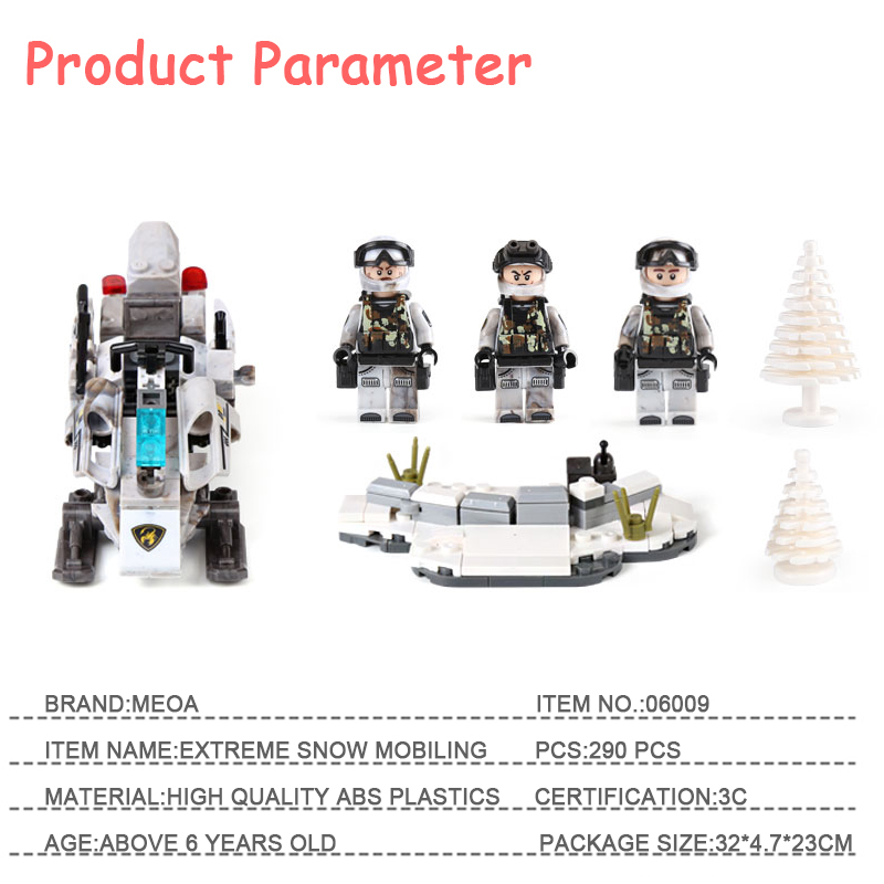 MEOA Military LegoINGlys Guns Blocks Building Bricks Technic Lepin Creator Moc Army Figures Toys For Boys Childrens As Gifts