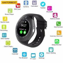 AMTERBEST Redonda com SIM Slot Para Cartão TF Sem Fio Bluetooth Relógio Inteligente Câmera do Relógio do Negócio para As Mulheres Homens Crianças Meninos Meninas