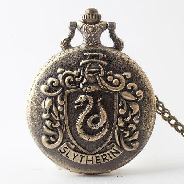 New Snake Quartz Pocket Watch Necklace for Men Women Children Xmas Gifts Jewelry
