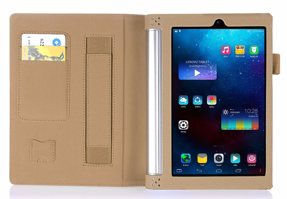 Luxury PU leather Cover case For lenovo Yoga Tablet2-830F tablet cover case For Yoga Tab3 850F Case+Screen protector+stylus Pen 3 in 1 new ultra thin smart pu leather case cover for 2015 lenovo yoga tab 3 850f 8 0 tablet pc stylus screen film