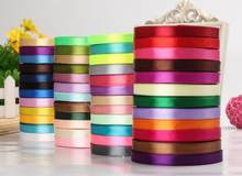 "(25 yards/roll ) 1/4"" 6mm Single Silk Satin Ribbon Wedding Party Decoration Gift Wrapping Christmas Sewing Fabric Hand DIY 22M(China)"