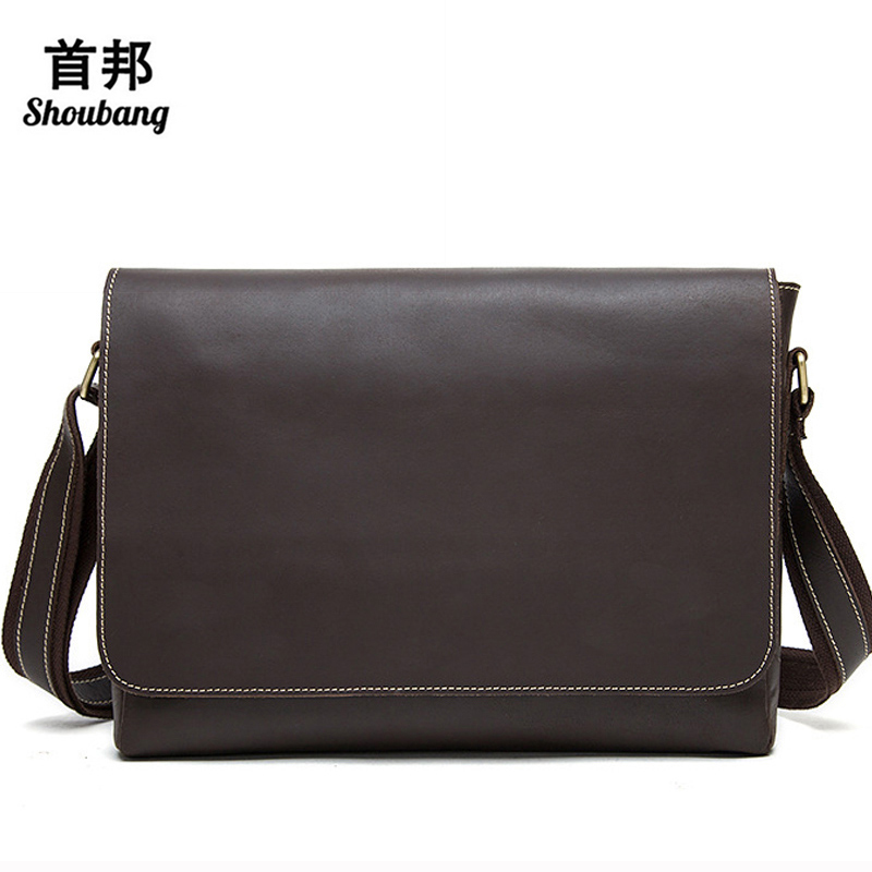 Crazy Horse Genuine Leather Men Bag Men's Leather Bag Men Messenger Bags Shoulder Crossbody Bags Man Handbag Briefcase genuine leather casual men bags men s messenger bags briefcase handbag men s travel bag man leather crossbody shoulder bag 2016 page 4