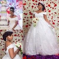 Простой дизайн линии Свадебные платья с молнией сзади с открытыми плечами изготовленный на заказ тюль vestido de novia SweepTrain низкая цена Longo