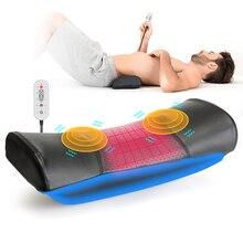 חשמלי מותניים לעיסוי עמוד השדרה המותני מכשיר מתיחה חזרה חימום רטט עיסוי כרית אוויר דחיסה Lumba תמיכת כרית
