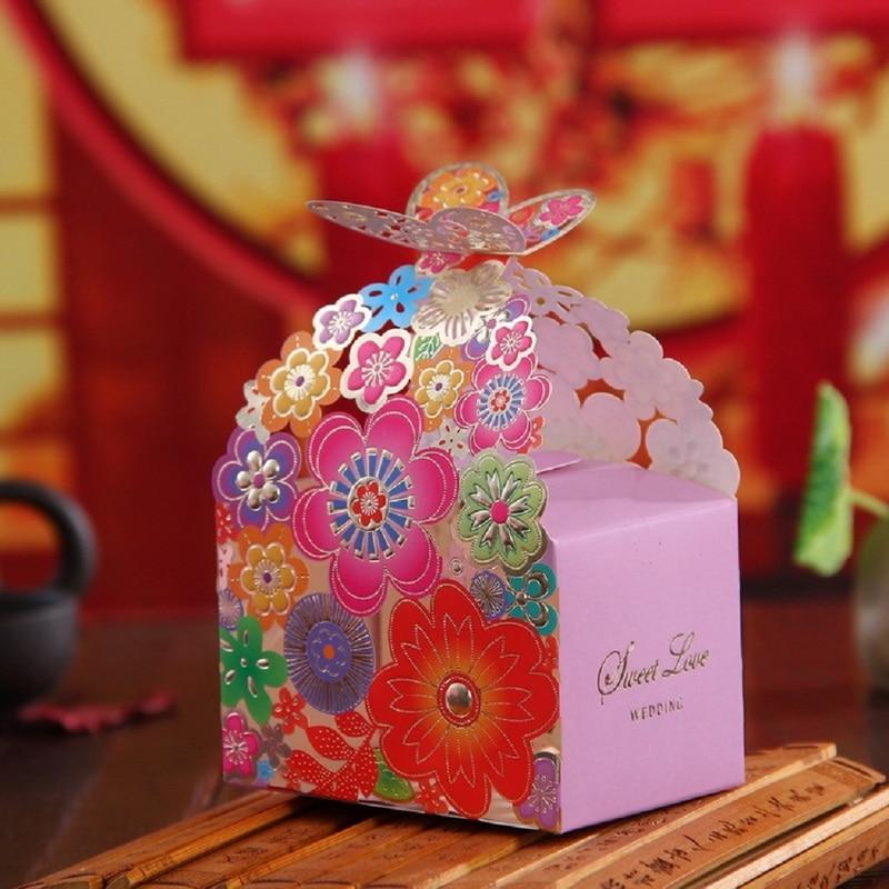 100pcs European Creative Romantic Wedding Candy Gift Box