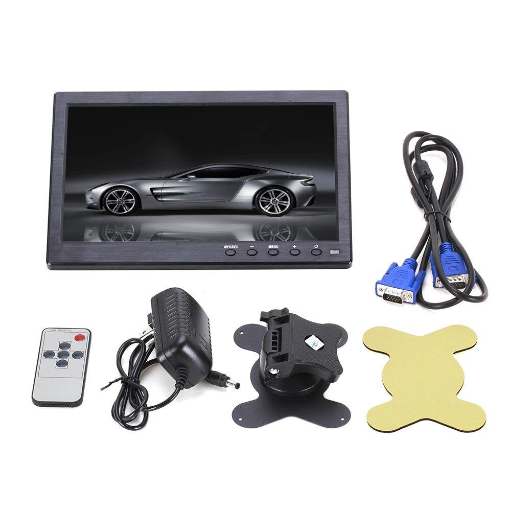 """imágenes para 10.1 """"1024*600 Píxeles HDMI USB VGA AV Monitor Del Coche con la Pantalla de Salida Diseño Delgado Recubrimiento UV para Monitoreo ETC PC"""
