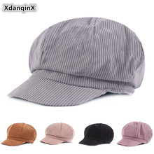XdanqinX 2019 Autumn New Womens Hat Fashion Cotton Newsboy Caps Elegant Lady Tongue Cap Multicolor Casual Sports For Women