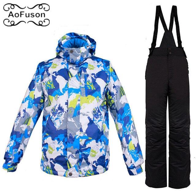 Vêtements de ski pour hommes veste & pantalon coupe-vent chaud imperméable respirant Snowboard ski costume ensemble hiver neige épaissir manteau pantalon