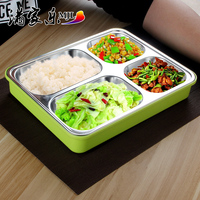 Insulation Boxes Lattice Snack Tray For Adult High Quality 304 Stainless Steel Dinner Plate Lunch Box