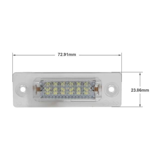 placeholder LED Number License Plate Lights Lamp for VW Caddy Golf 5  Plus Jetta  c5a0abc08816