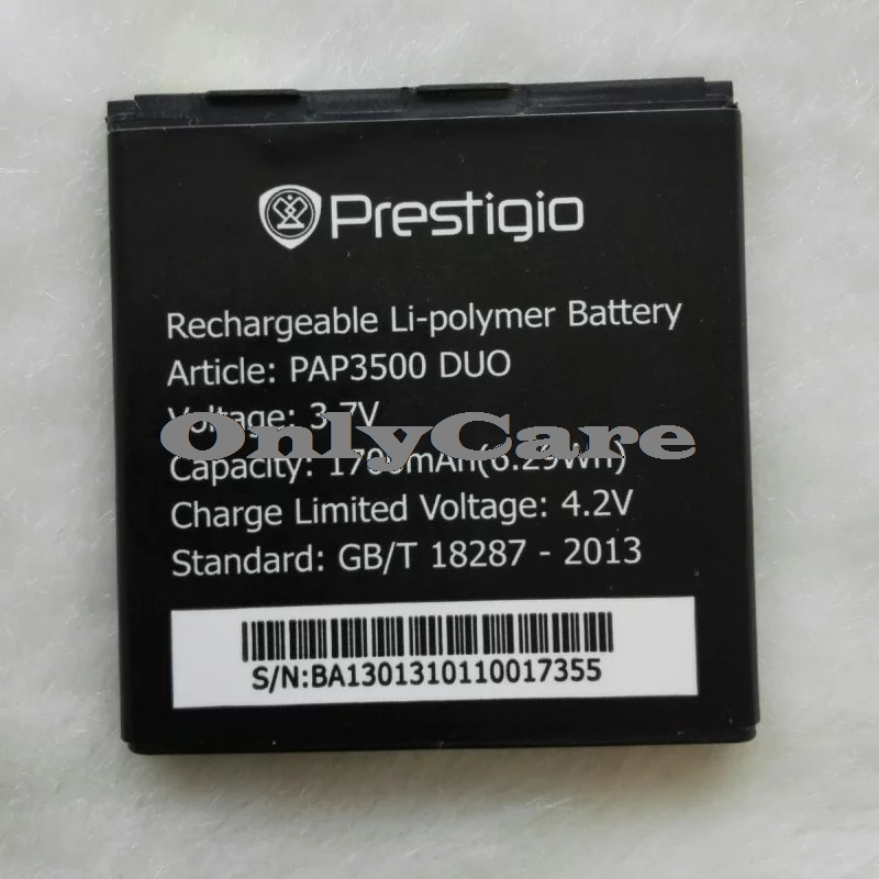 Prestigio 3500 1700mAh Mobile Replacement Li-ion Polymer Battery Bateria for Prestigio PAP 3500 DUO Batterie Accumulator