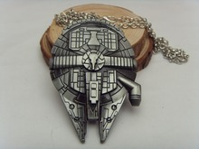 Hot Movie Star Wars Millennium Falcon Alloy Necklace  Pendant Fashion 2015 Movie Jewelry Europe  American Hot Necklace 10pc/lot