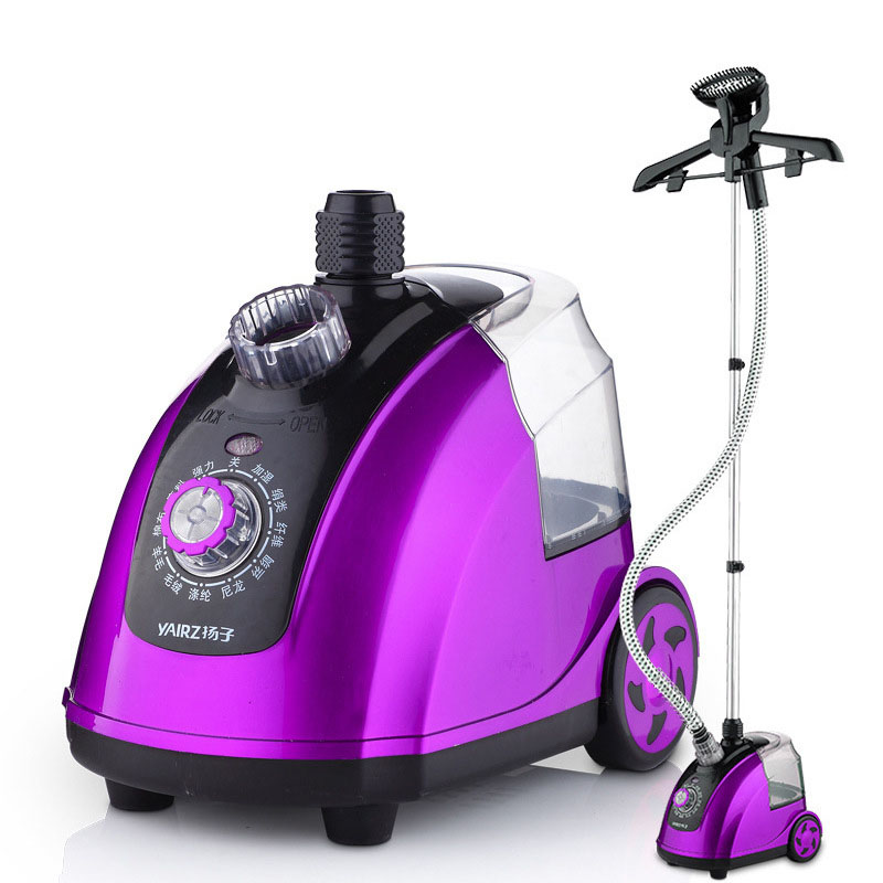 1800W 1.8L Electric Garment Steamer 11 Gear Adjustable Clothes Iron Machine with Steam Brush Durable Pole Portable Steamer Iron multifuncation iron steam electric electric garment steamer brush portable 2 in 1 face steamer facial spa steamer beauty skin