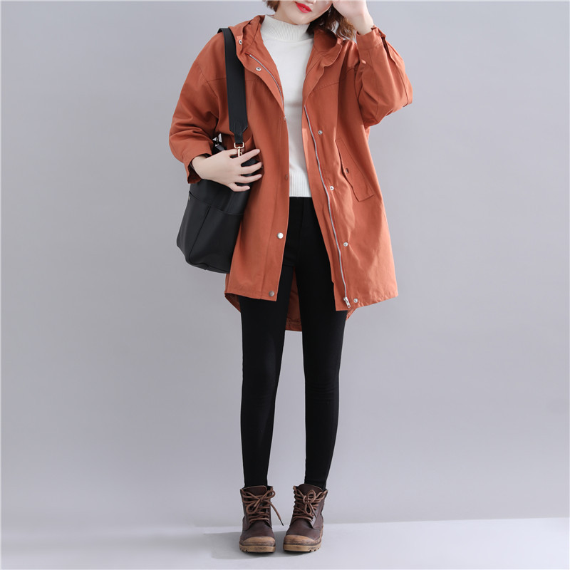 Winter 2018 large size women's   jacket   fashion print loose   basic     jacket