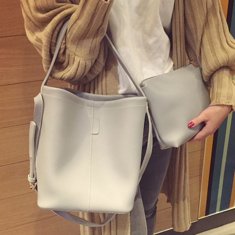519 New Arrival Woman Handbag Fashion bag Bucket Shoulder&Hand bag Ribbon PU leather bag Free&Drop shipping perfect 2016 new bag ladies korean ribbon fashion crossbody shoulder handbag free shipping