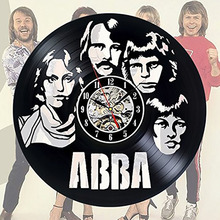 LED with 7colors Abba Art Vinyl Wall Clock Gift Room Modern Home Record Vintage Decoration Hanging Wall Clock