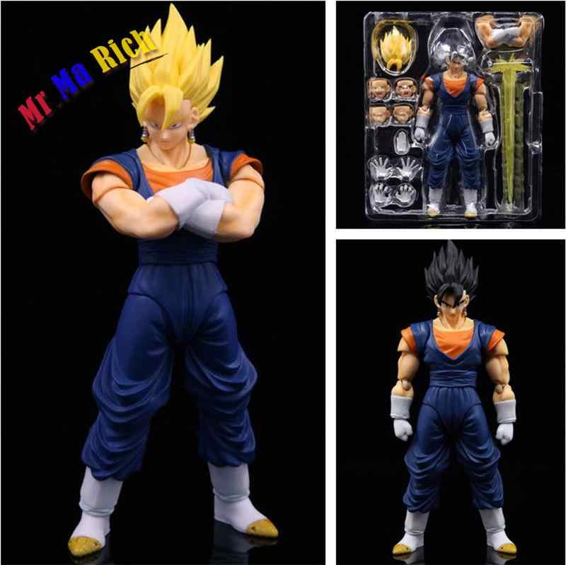 SHF Vegeta Gogeta Son Goku Vegetto Action Figure Estatueta Em
