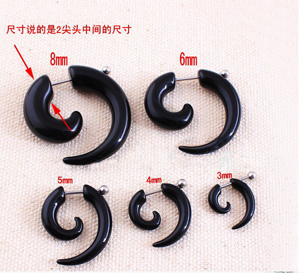 12pc Lot Acrylic Spiral Gauge Ear Plug Fake Cheater Stretcher Flesh Earring Piercing Body Jewelry 3 8 Mm