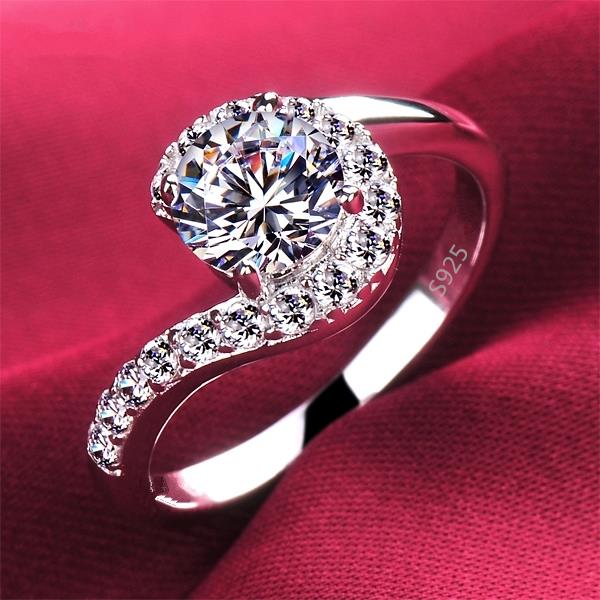 high quality vintage question sign women wedding engagement rings jewelry fine luxury ring wholesale us 6 7 8 9 drop shipping