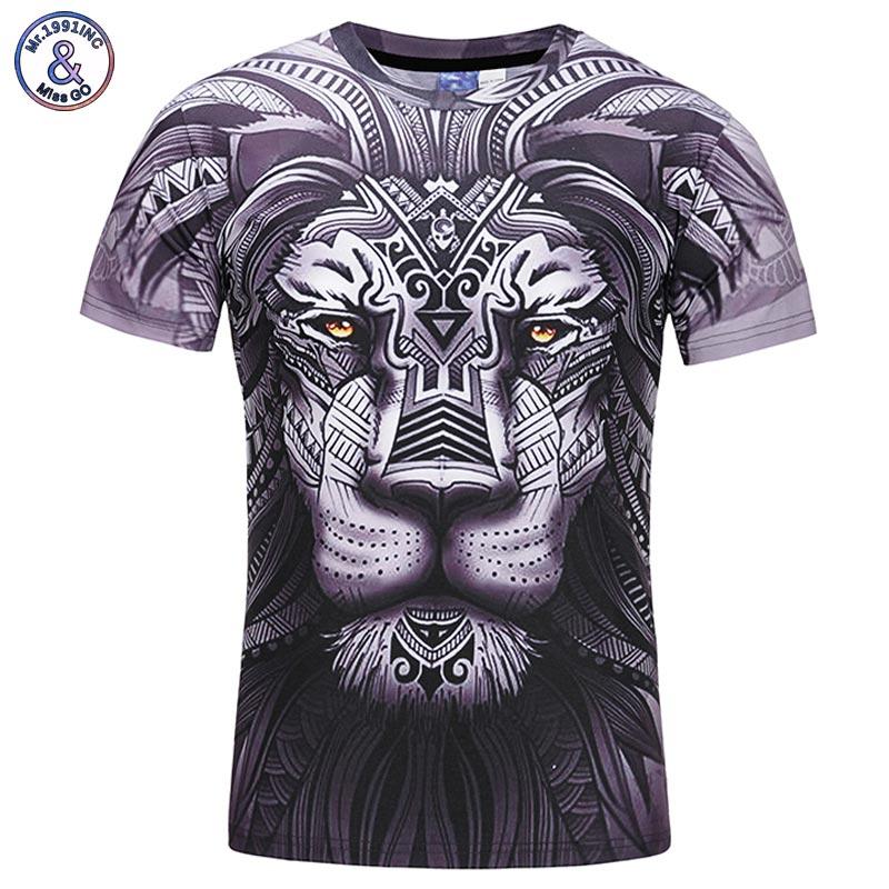 Mr.1991INC Youth 3d T-shirt Men/Women Fashion Brand T-shirt 3d Print Lion T shirt Summer Tops Tees Shirts