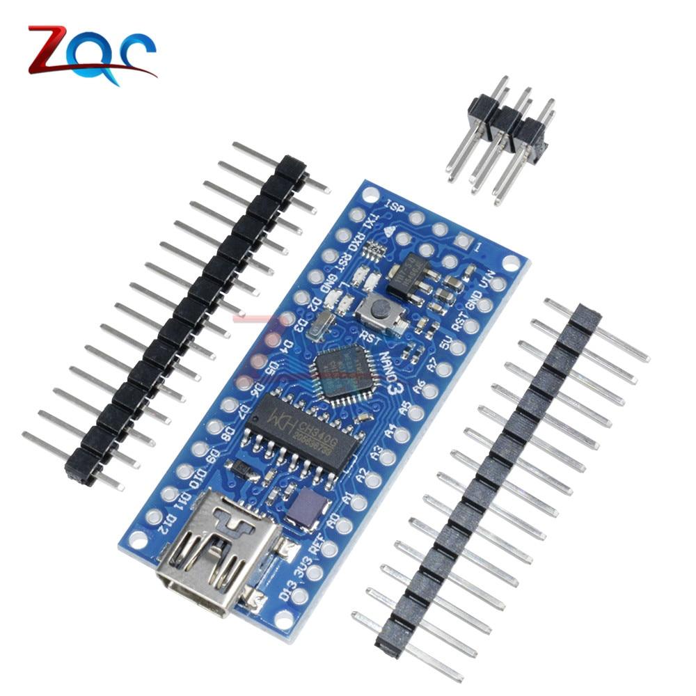 ATmega168 CH340 CH340G Nano V3.0 3.0 Mini USB UART Board 16Mhz 3.3V 5V Microcontroller Micro Controller Module For Arduino
