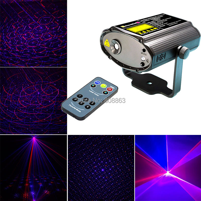 Mini Red Blue Laser Stars Lines Pattern Projector Remote Lighting Light Dance Disco Bar Party DJ Xmas Effect Stage Lights Show mini 300mw rgb laser stage lighting effect red green blue mixing dj disco light bar party xmas laser projector show lights