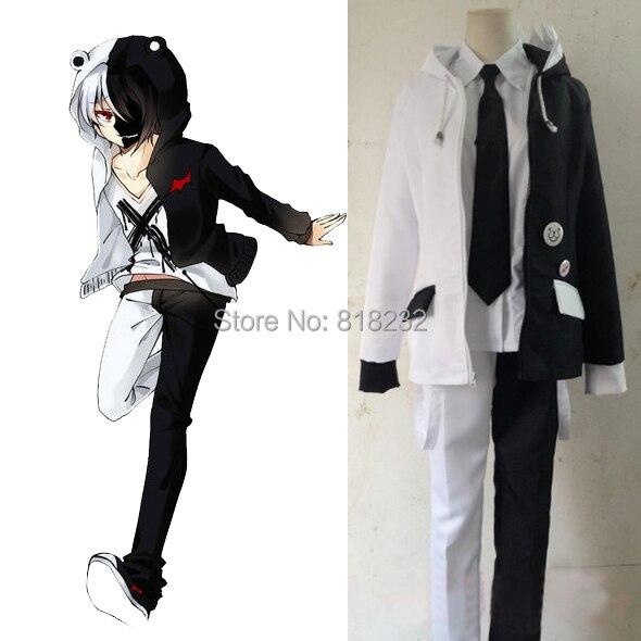 Danganronpa Monokuma школьная форма косплей костюмы пальто + + брюки