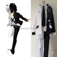 Danganronpa Monokuma School Uniform Coat Jacket Shirt Pants Outfit Anime Cosplay Costumes